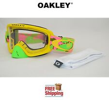 OAKLEY® O2™ O FRAME® 2.0 MX GOGGLES ATV MOTOCROSS MOTORCYCLE DIRT PINK YELLOW
