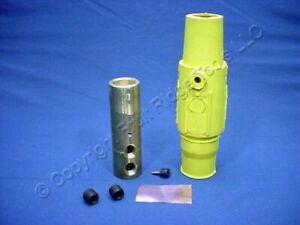 Leviton Yellow ECT 17 Series Female Cam Plug Double Set Screw 690A 600V 17D24-Y
