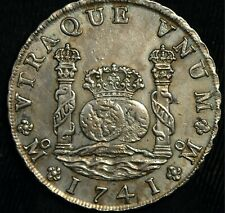 More details for mexico 8 reales 1741 pillar dollar genuine km#103 (t114)