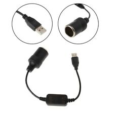 USB Male To Car Cigarette Lighter Socket 12V Female Converter Adapter Cable Cord