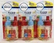3 Febreze Noticeables FRESH PRESSED APPLE Scented Oil Refills Bulb