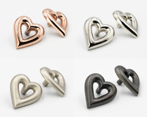 Brass Love Heart Drawer Knobs   Drawer Handle   Cupboard knob