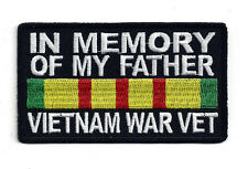 IN MEMORY OF MY FATHER VIETNAM WAR PATCH US ARMY MARINES NAVY AIR FORCE PIN UP