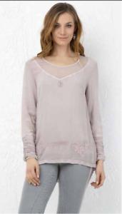 Elisa Cavaletti T-Shirt Bluse Tunika pink ELW195031600 Gr. M + L