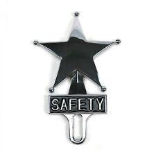 Retro Vintage Safety Star Chromed License Plate Topper
