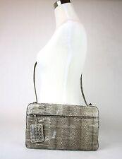 New Authentic BOTTEGA VENETA Python Clutch Shoulder Bag, 244516 9027