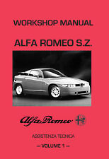 ALFA ROMEO SZ Workshop Manuali 2 volumi