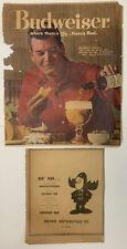 Vintage Budweiser Beer 1961~Bud Man 1970 Newspaper Print Ads~Bud Advertising