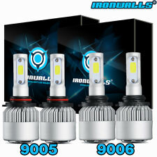 4x CREE 9005 9006 LED 2600W 195000LM Headlights Combo Kits High + Low Beam 6000K