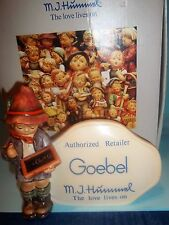 """Hummel Authorized Retailer Plaque Goebel 1984 """"The Tally"""" MINT in BOX"""