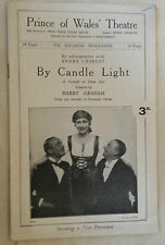 PRINCES OF WALES' THEATRE 1929: LESLIE FABER - RONALD SQUIRE in BY CANDLE LIGHT