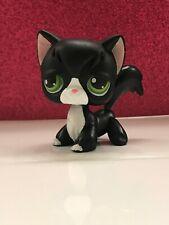 Littlest Pet Shop Angora Black #55 - Green Eyes, Red Magnet