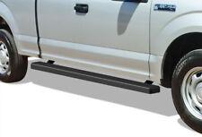 iBoard Running Boards 4in Matte Black Fit 15-20 Ford F150 Super Cab & 17-20 F250