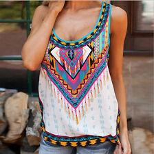 Fashion Women Summer Vest Top Sleeveless Shirt Blouse Printing Tank Tops T-Shirt