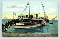 Catalina Island, CA - EARLY VIEW OF GLASS BOTTOM EMPRESS POWER BOAT - POSTCARD
