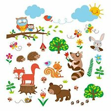 NEW Into the Woods Baby Nursery Decorative Wall Art Sticker Decals