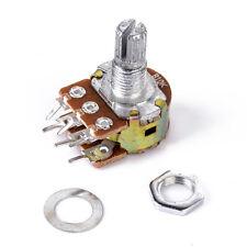 5PCS B10K Dual Stereo Potentiometer Pots  Linear Taper Splined Shaft 16mm 6Pin