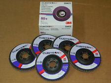 "(1) BOX OF (5) 3M 33472 CUBITRON II FLAP 4.5"" DISC 80+ GRIT GRADE 115mm x 22mm"