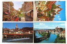 Kanton Bern Postkarten Lot 4x THUN Thoune Switzerland AK ungelaufen ca./ab 1970