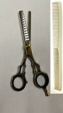 """Professional Barber Razor Thinning Shears 5.5"""" With Comb"""