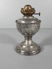 Small Tin Oil Lamp w/ Weighted Base / FREE Shipping