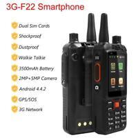 F22 Rugged Smartphone Unlocked 3G 4GB Shockproof Phone Walkie Talkie GPS SOS