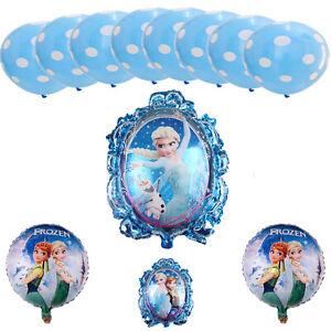 Frozen Elsa Anna Eiskönigin Ballon-Set Party, Kindergeburtstag, 13-teilig