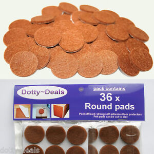 FURNITURE FELT PADS Square/Round Floor Protector Chair/Table Leg Sticky Back 36