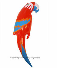 48cm Inflatable Blow Up Red Parrot Hawaiian Tropical Pirate Party Decoration