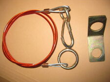 New Caravan Trailer Horsebox Steel Breakaway Cable & Steel Bracket