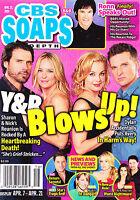 CBS Soaps In Depth Magazine April 21 2014 Joshua Morrow Steve Burton Ronn Moss