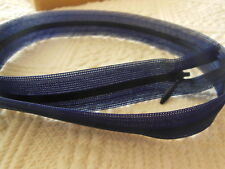 fermeture éclair 50 cm bleu foncé invisible  non- séparable  A 90 couture robe