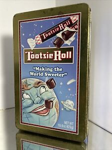Tootsie Roll Choclate Metal Tin Collectible Making World Sweeter Kitchen Decor