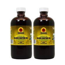 Tropic Isle Living Jamaican Black Castor Oil 8oz (Pack of 2) /w Free Applicator