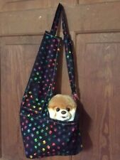 Black Colorful Paws Small Dog Shoulder Bag Carrier Tote Carols Crate Covers