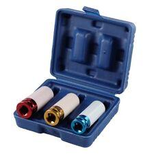 """3Pcs Thin Wall Deep Wheel Protector Impact Socket Set 17 -19 - 21mm 1/2"""" Drive"""