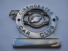 C1950S VINTAGE CIRENCESTER CAR CLUB CAR BADGE