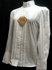 Grace White Blouse Victorian Frontier Classics Pioneer Old West Free Brooch S-3X