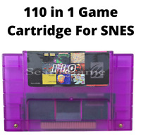 Super 110 in 1 Game Cartridge For Super Nintendo SNES 16-Bit Multicart NTSC SNES
