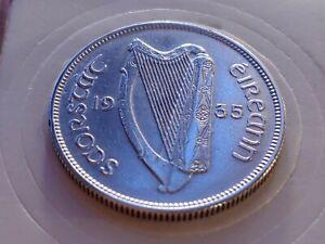 High Grade Silver Florin 1935 IRELAND Silver FLORIN Nicer XF + Coin + ERROR!🎇