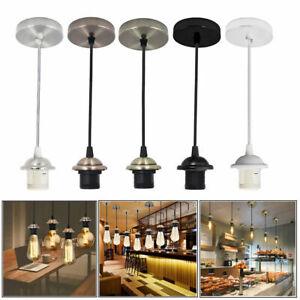 E27 Screw Holder Ceiling Rose Pendant Light Industrial Lamp Bulb Holder Fittings