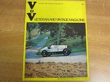 August 1973, VETERAN & VINTAGE, Nigel Arnold-Forster, Dennis Miller-Williams.