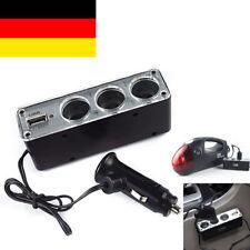 USB Steckdose Adapter und 3 Fach Kfz Auto Zigarettenanzünder Verteiler Buchse
