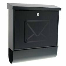 Burg-Wächter Lucenta 2701 ANT Letter Box with Translucent Door, Anthracite