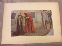 Antique Book Print - O, Mistresses Mine, Where Are You Roaming - Abbey - 1910