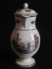 creamware transfert printed teapot circa 1800