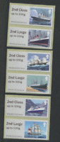 MAIL BY SEA ERROR Collectors strip 2nd class on 1st Open POST & GO