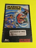 MARIO TIME MACHINE Instruction Booklet Manual Original SNES SUPER NINTENDO