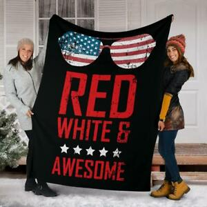 US Independence Day - American Holiday (Red White) Blanket Gift