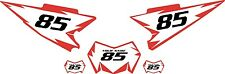 2008-2015 Yamaha WR250X Pre-Printed White Backgrounds with Red Shock Series